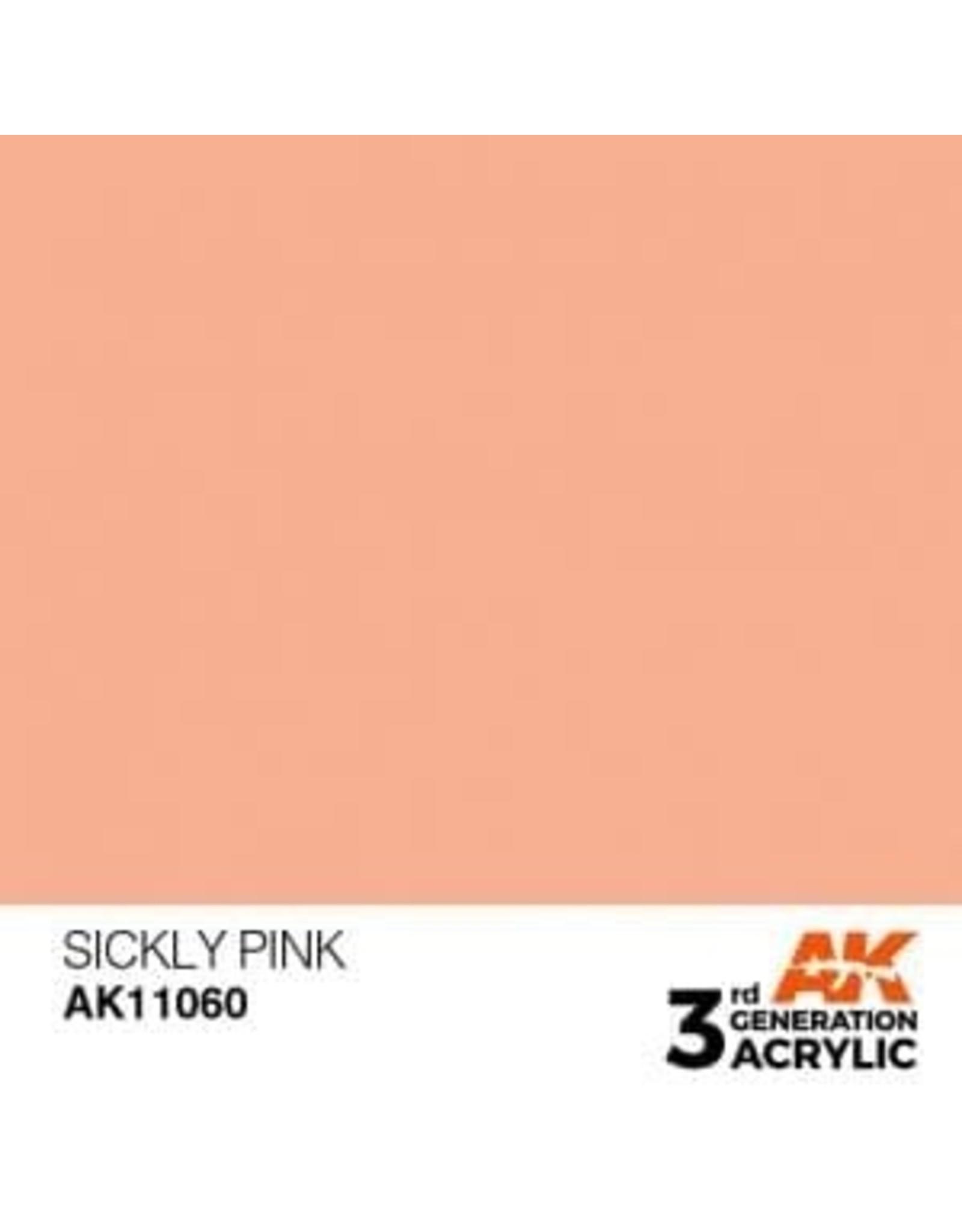 AK Interactive 3RD GEN ACRYLIC SICKLY PINK 17ML