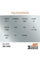 AK Interactive 3RD GEN ACRYLIC SILVER 17ML