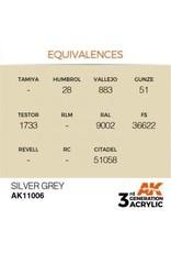 AK Interactive 3RD GEN ACRYLIC SILVER GREY 17ML