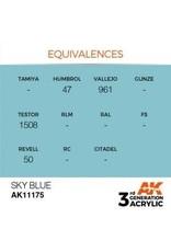 AK Interactive 3RD GEN ACRYLIC SKY BLUE 17ML