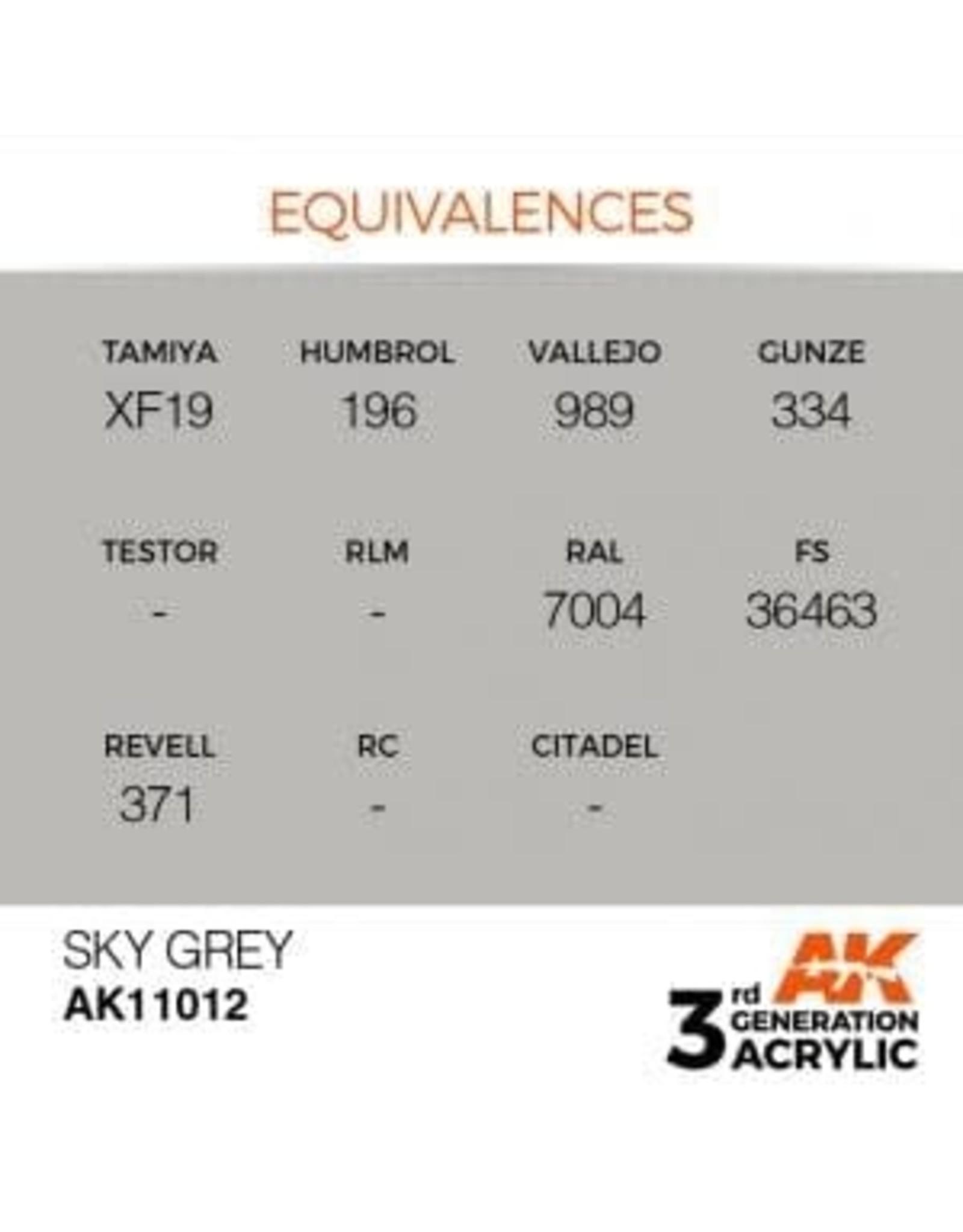 AK Interactive 3RD GEN ACRYLIC SKY GREY 17ML