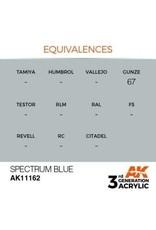 AK Interactive 3RD GEN ACRYLIC SPECTRUM BLUE 17ML