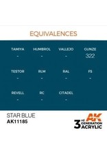 AK Interactive 3RD GEN ACRYLIC STAR BLUE 17ML