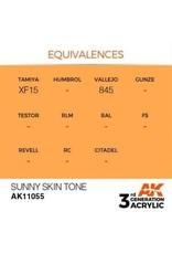 AK Interactive 3RD GEN ACRYLIC SUNNY SKIN TONE 17ML
