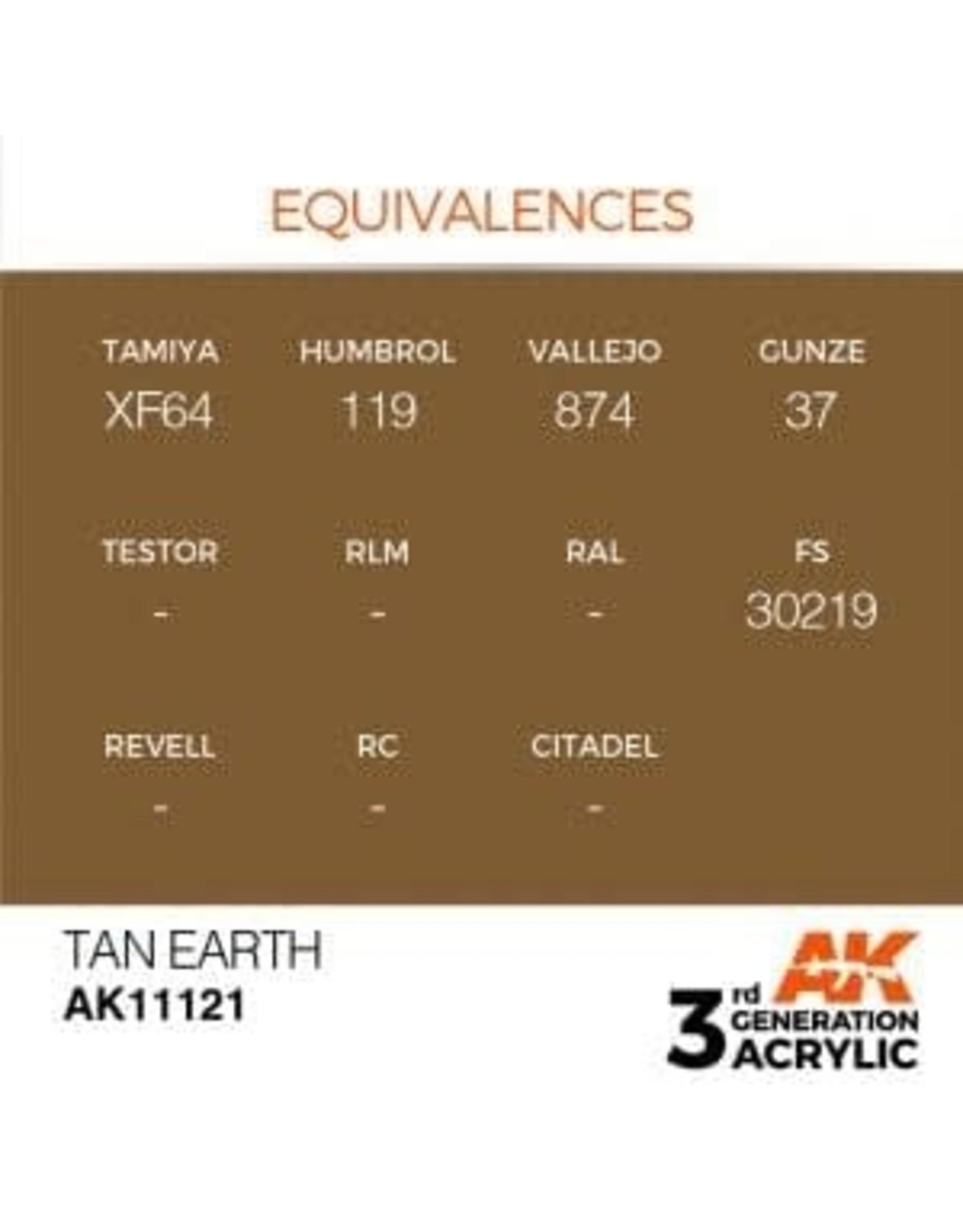 AK Interactive 3RD GEN ACRYLIC TAN EARTH 17ML