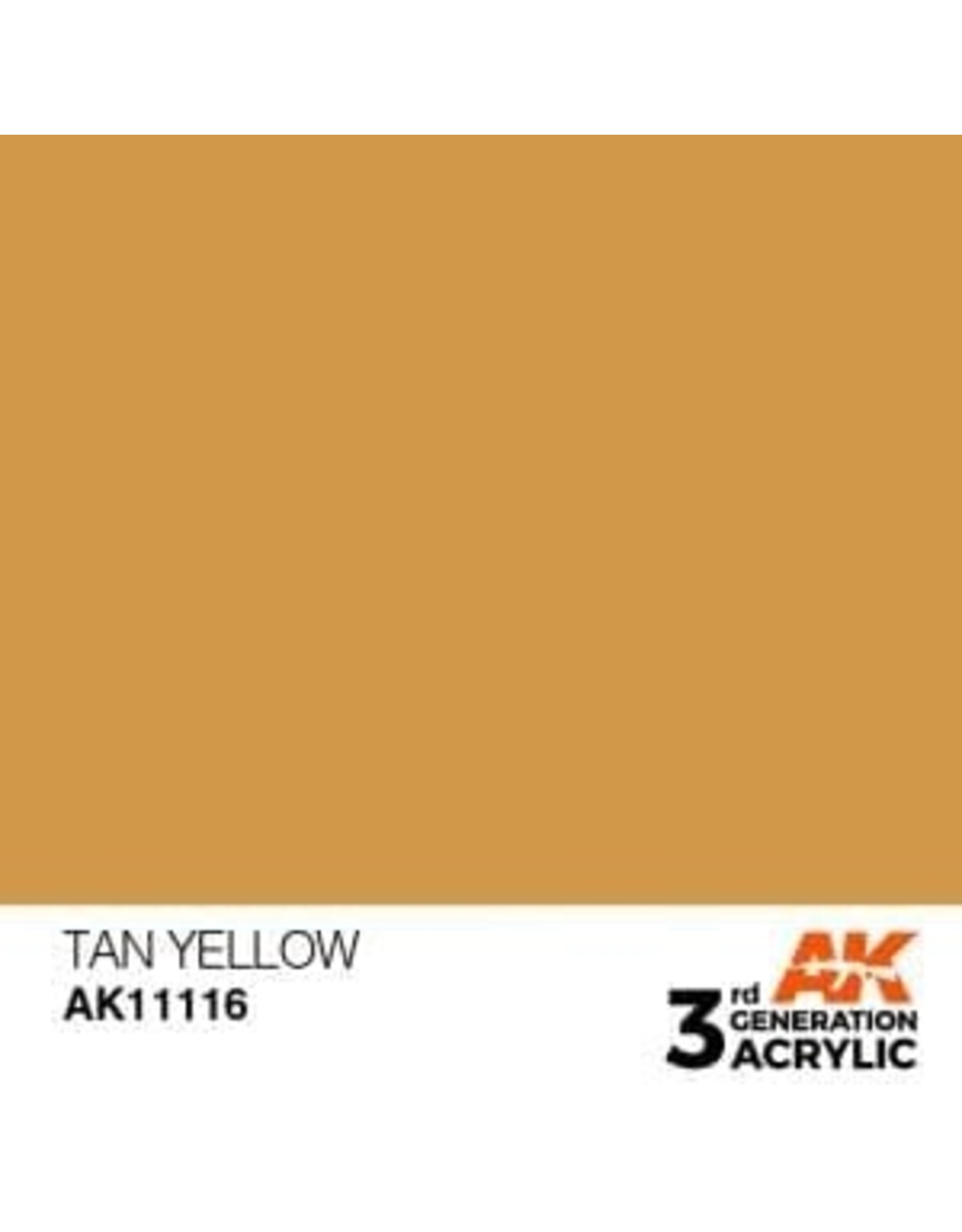 AK Interactive 3RD GEN ACRYLIC TAN YELLOW 17ML