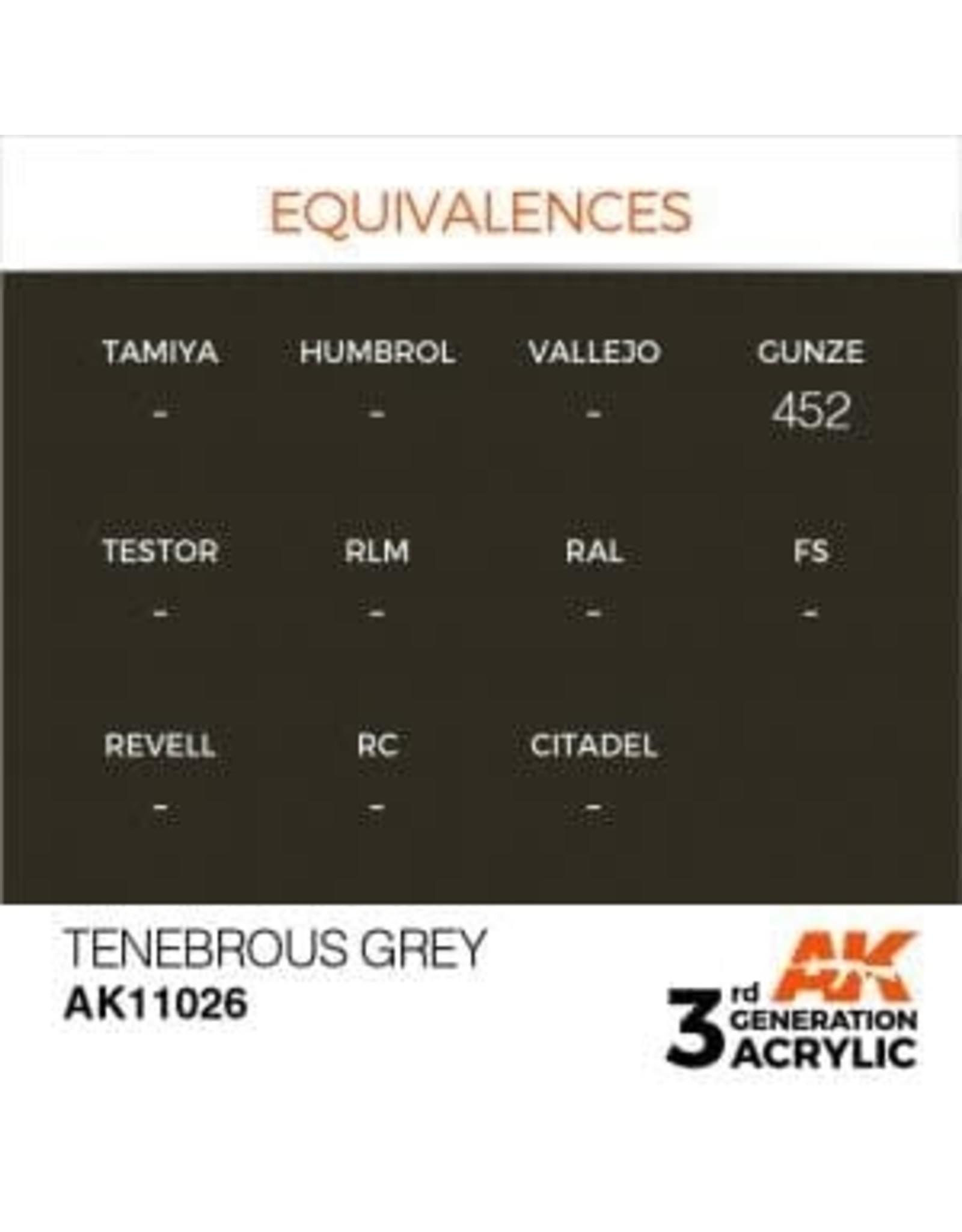 AK Interactive 3RD GEN ACRYLIC TENEBROUS GREY 17ML