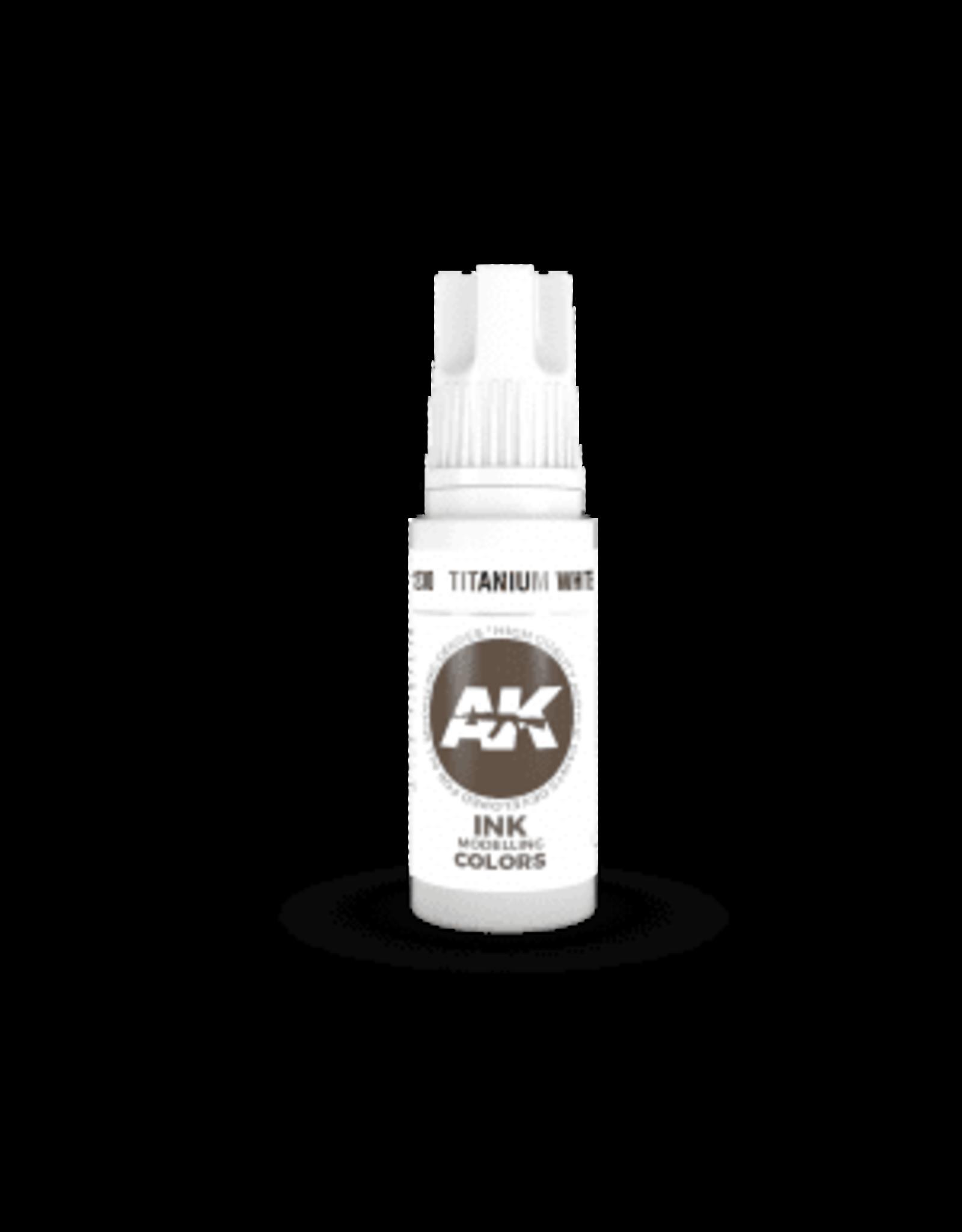AK Interactive 3RD GEN ACRYLIC TITANIUM WHITE INK 17ML