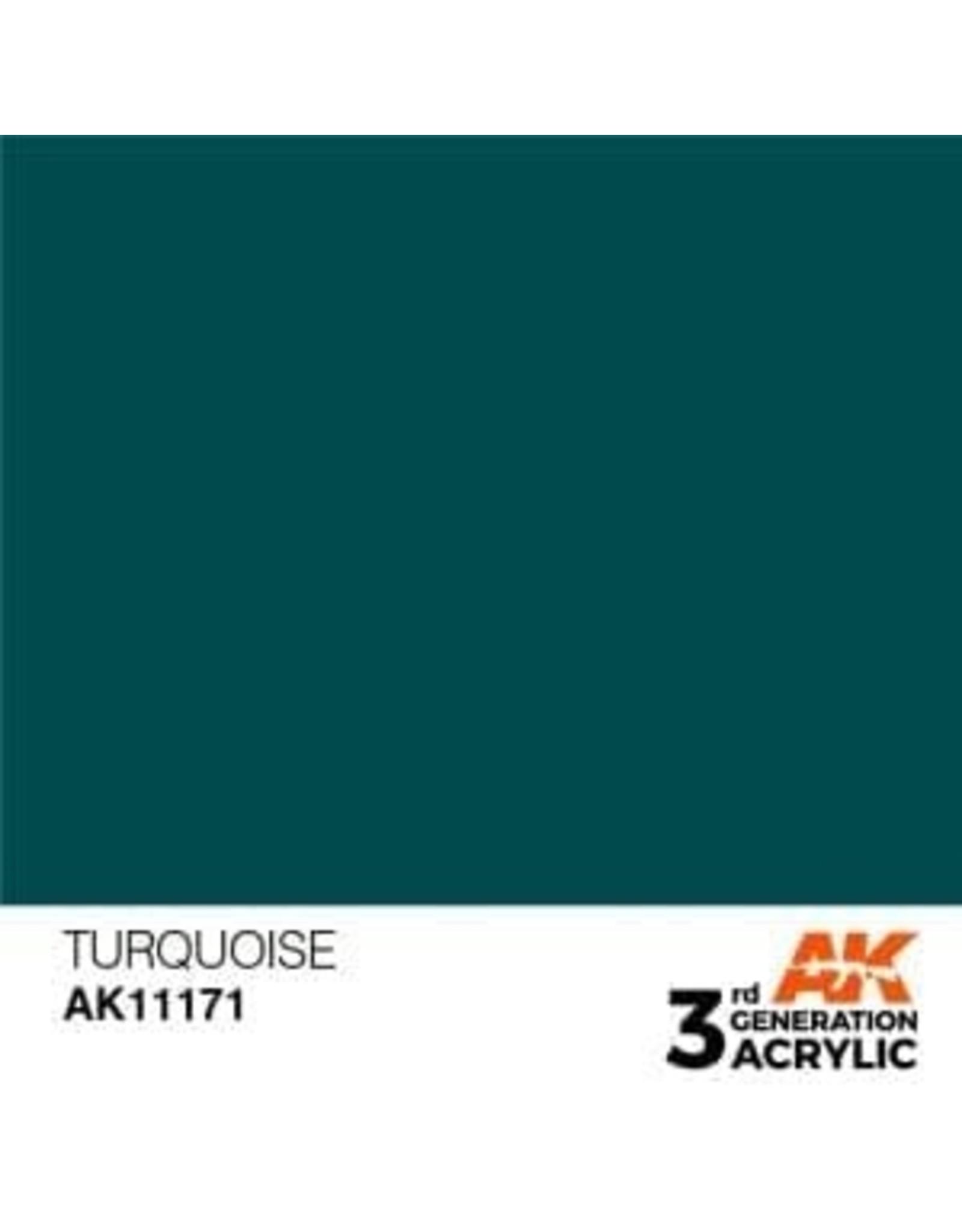 AK Interactive 3RD GEN ACRYLIC TURQUOISE 17ML