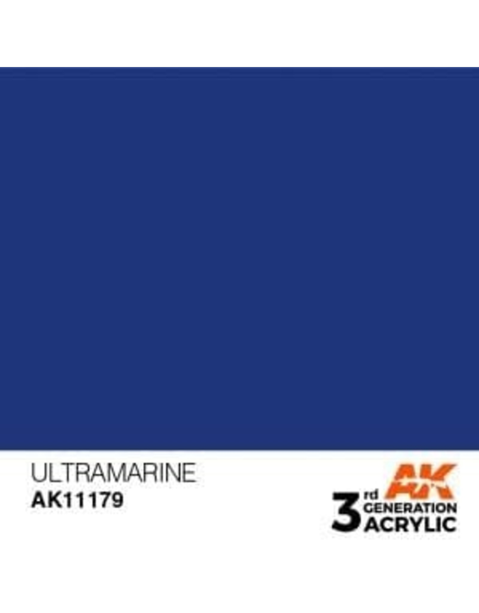 AK Interactive 3RD GEN ACRYLIC ULTRAMARINE 17ML