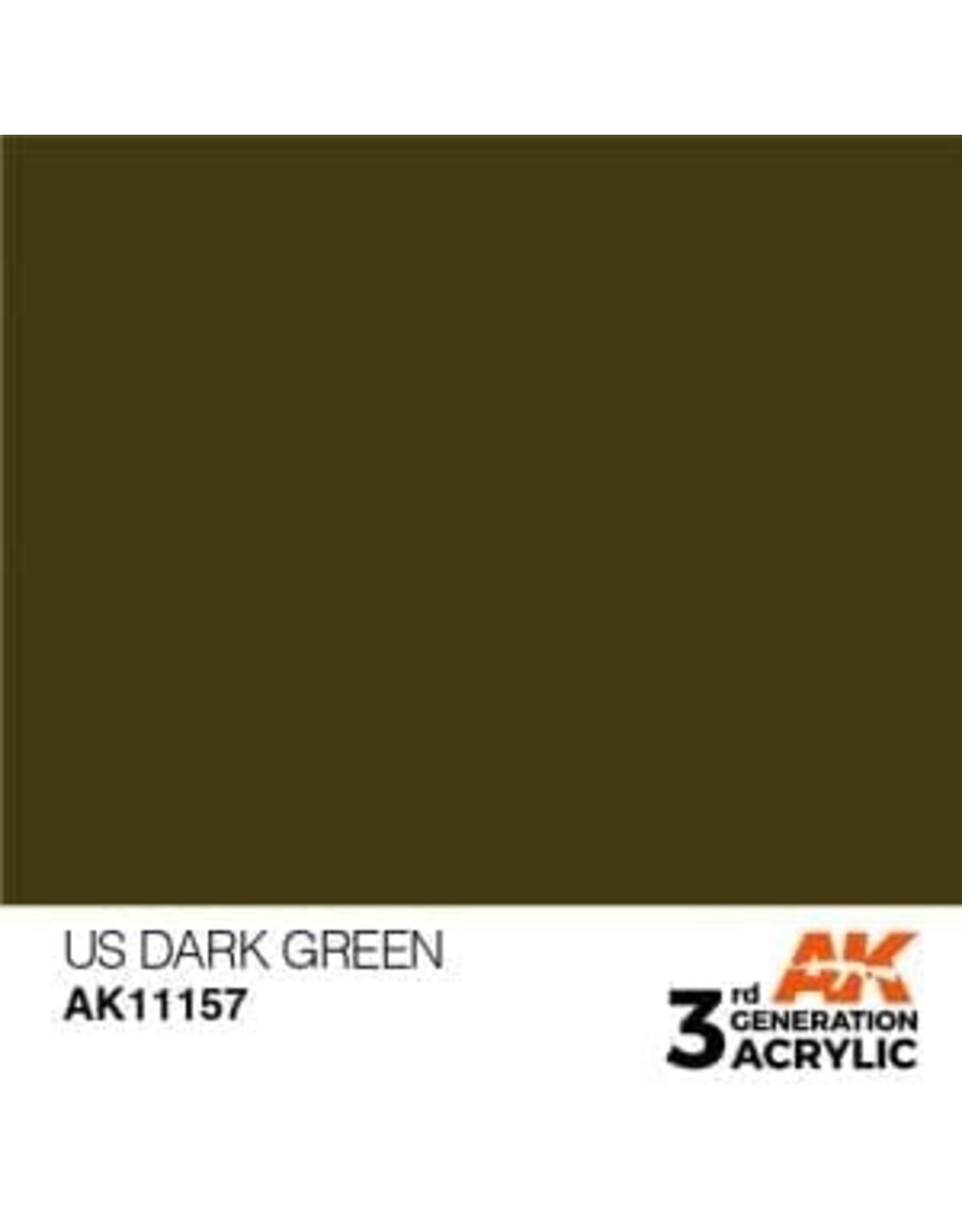 AK Interactive 3RD GEN ACRYLIC US DARK GREEN 17ML
