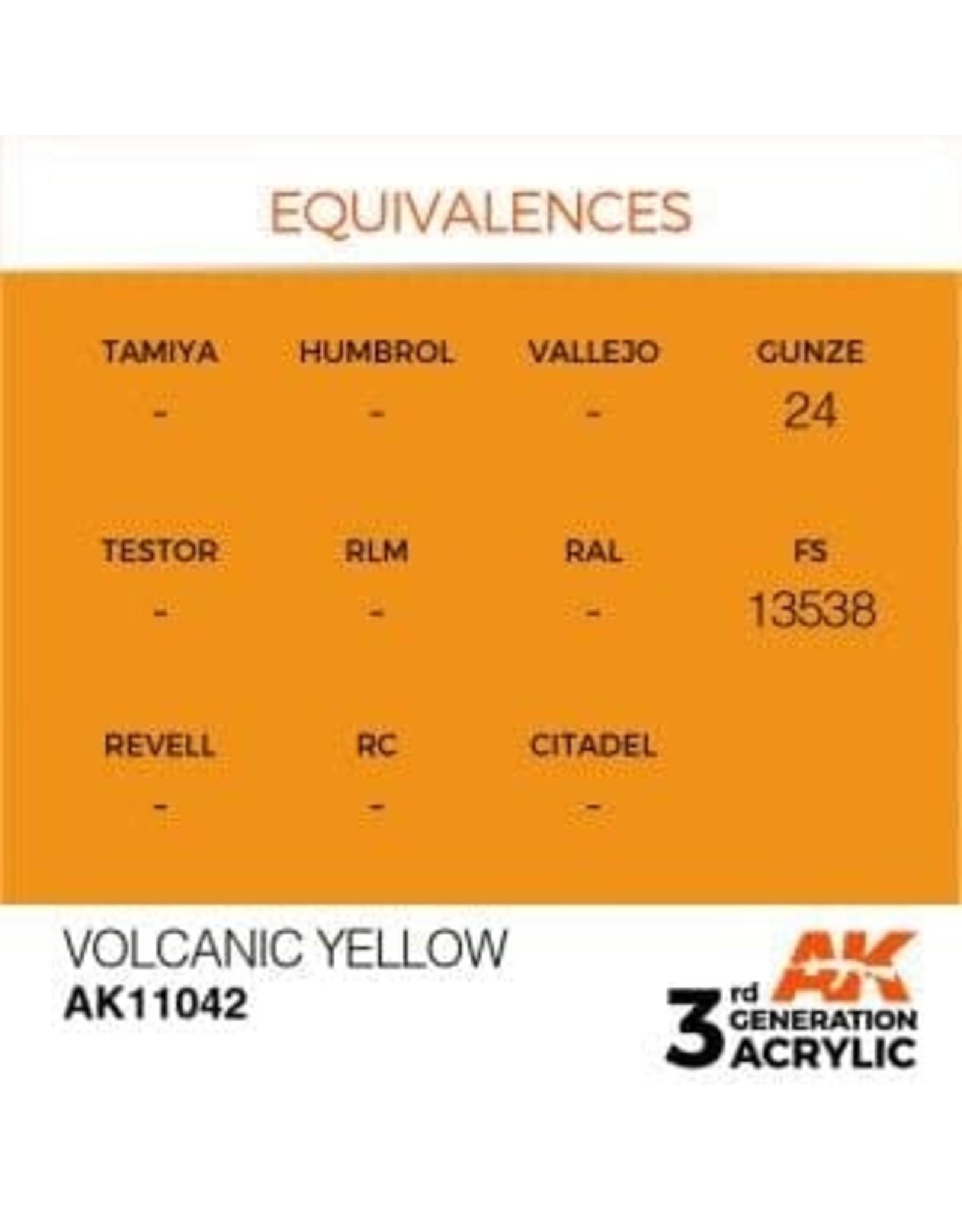 AK Interactive 3RD GEN ACRYLIC VOLCANIC YELLOW 17ML