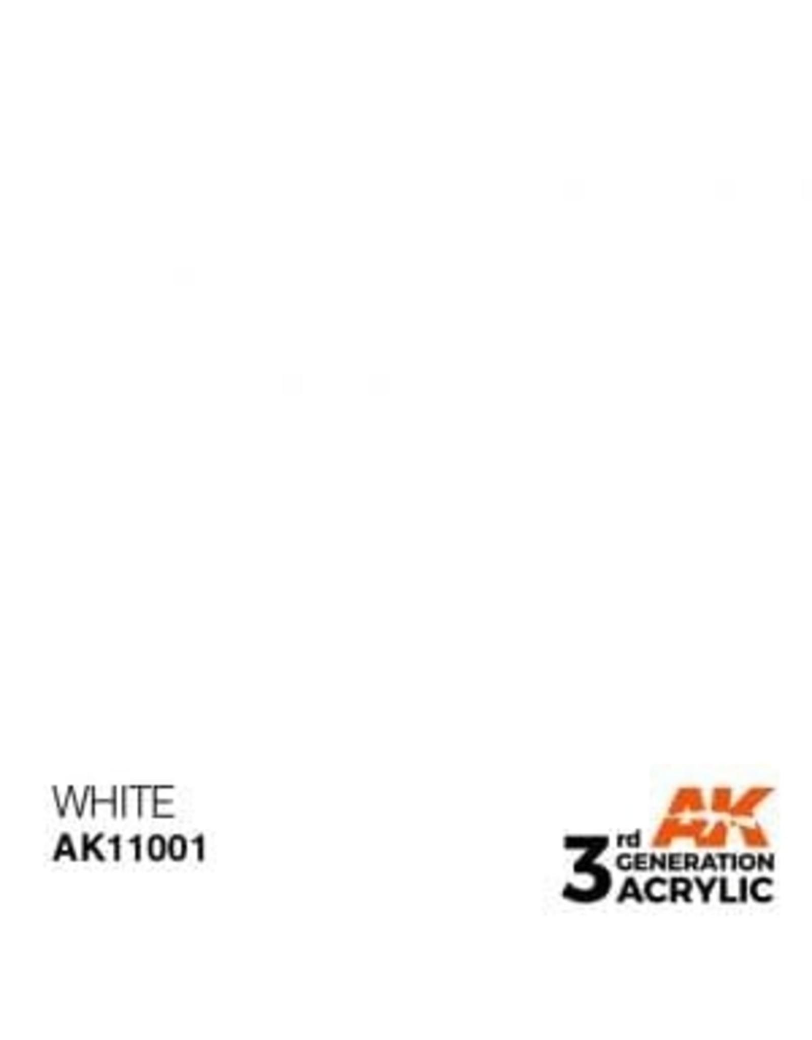AK Interactive 3RD GEN ACRYLIC WHITE 17ML
