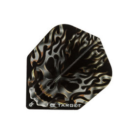Target Darts TARGET VISION FLIGHTS BLACK FLAMING SKULL
