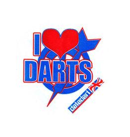 British Darts METRONIC FLIGHTS I HEART DARTS