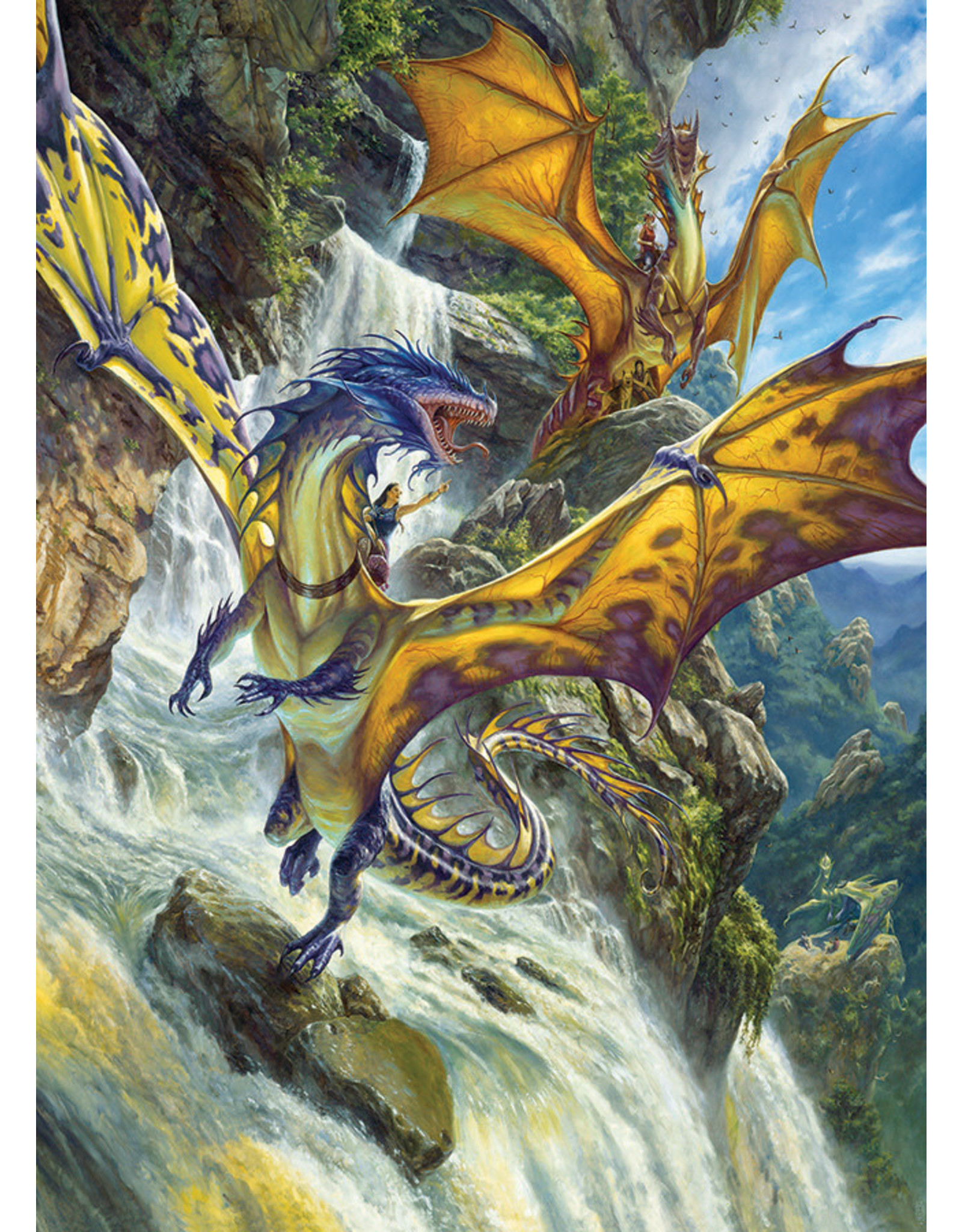 Cobble Hill 1000PC PUZZLE - WATERFALL DRAGONS