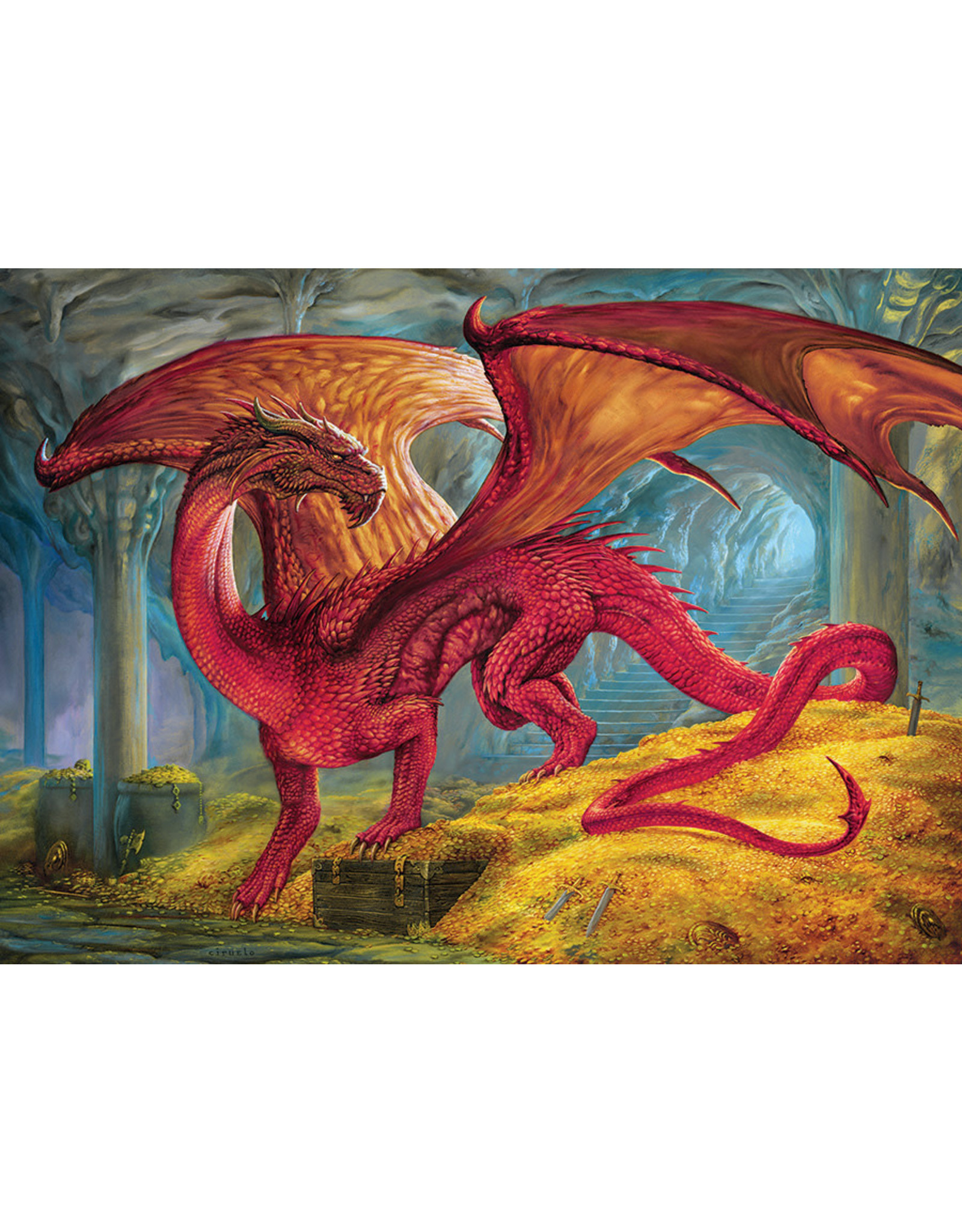 Cobble Hill 1000PC PUZZLE - RED DRAGON'S TREASURE