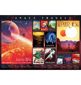 Cobble Hill 2000PC PUZZLE - SPACE TRAVEL POSTERS