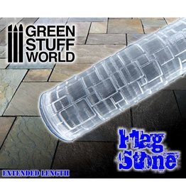 Green Stuff World ROLLING PIN: FLAGSTONE