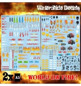 Green Stuff World WATERSLIDE DECALS: WORLD ON FIRE