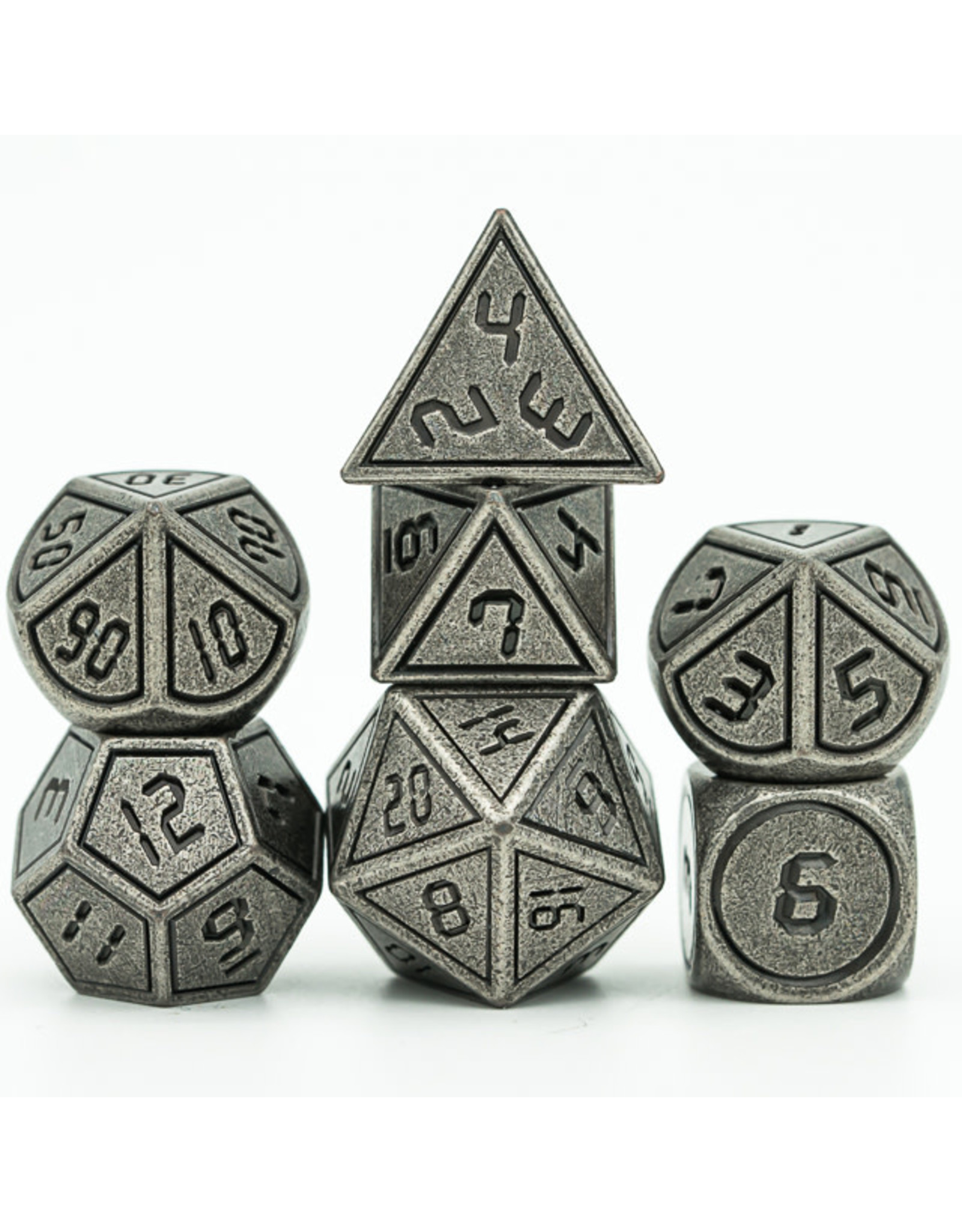 UdixiDice 7PC RPG DICE - METAL FRAME