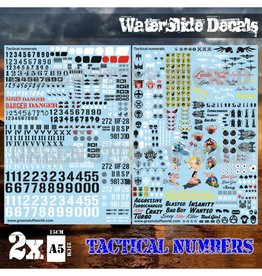 Green Stuff World WATERSLIDE DECALS: TACTICAL NUMERALS AND PINUPS