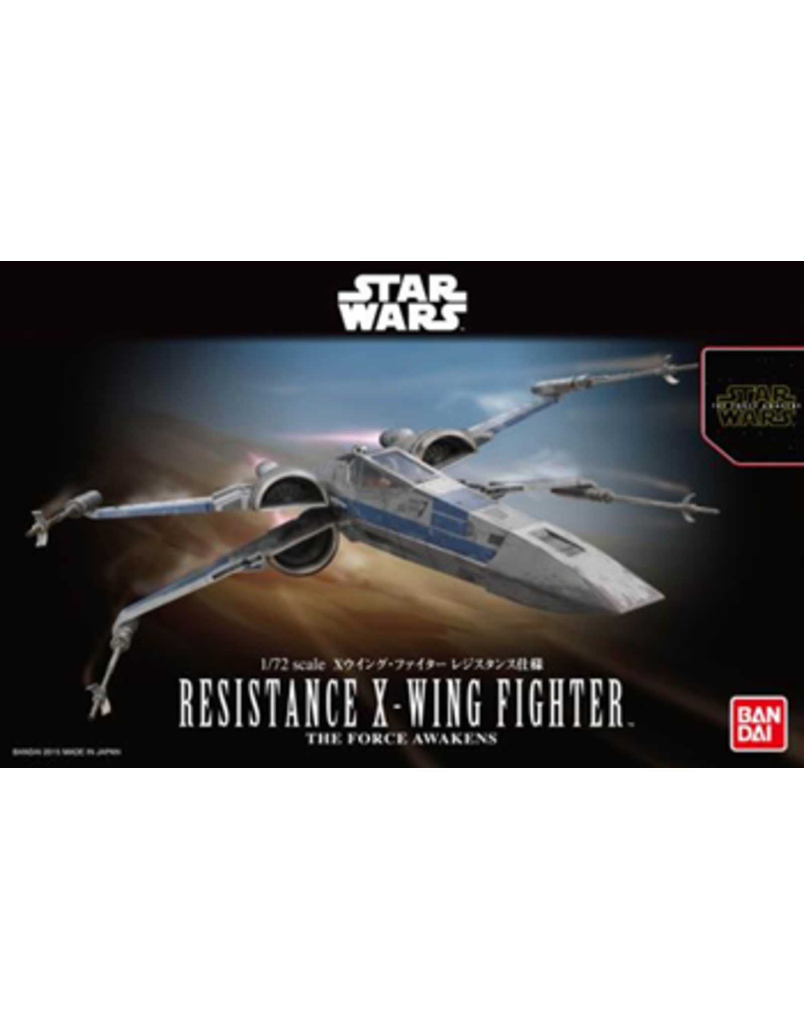 BANDAI 1/72 RESISTANCE X-WING FIGHTER