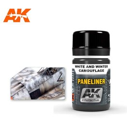 AK Interactive AK INTERACTIVE PANELINER FOR WHITE & WINTER CAMOUFLAGE 35ML