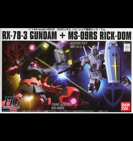 BANDAI HGUC 1/144 G-3 GUNDAM VS CHAR'S RICK DOM SET