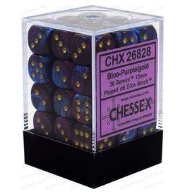 Chessex Gemini: 36D6 12mm Blue-Purple/Gold