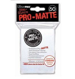 Ultra Pro PRO-MATTE WHITE STANDARD SLEEVES 50CT 66X91MM