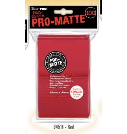 Ultra Pro PRO-MATTE RED STANDARD SLEEVES 100CT 66X91MM