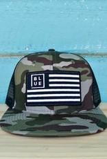 Blueline Surf + Paddle Co. USA Flag Flat Bill Hat