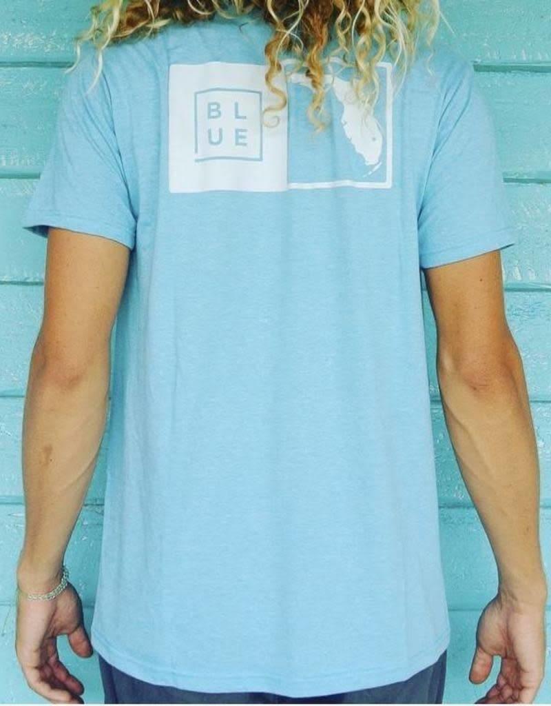 Blueline Surf + Paddle Co. The Florida Box Light Blue Heather\White