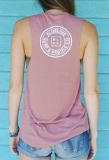 Blueline Surf + Paddle Co. Original Muscle Tank Mauve\White