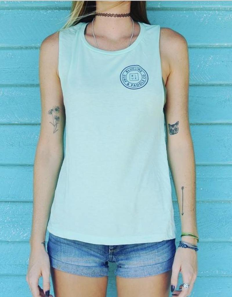 Blueline Surf + Paddle Co. Original Muscle Tank Mint\Navy