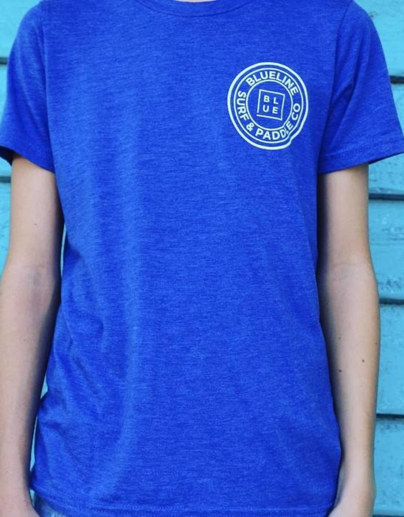 Blueline Surf + Paddle Co. The Original Youth Tee True Royal