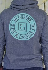 Blueline Surf + Paddle Co. AFX4000 Original PO Hoodie Gunmetal Gray\Jade