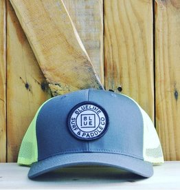 Blueline Surf + Paddle Co. Curved Original Neon Yellow\Charcoal