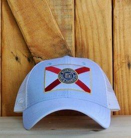 Blueline Surf + Paddle Co. Curved Florida Flag Carolina Oxford\Wht\Scar.Roy.Yel