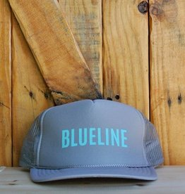 "Blueline Surf + Paddle Co. ""BLUELINE"" Trucker Light Gray\Jade"