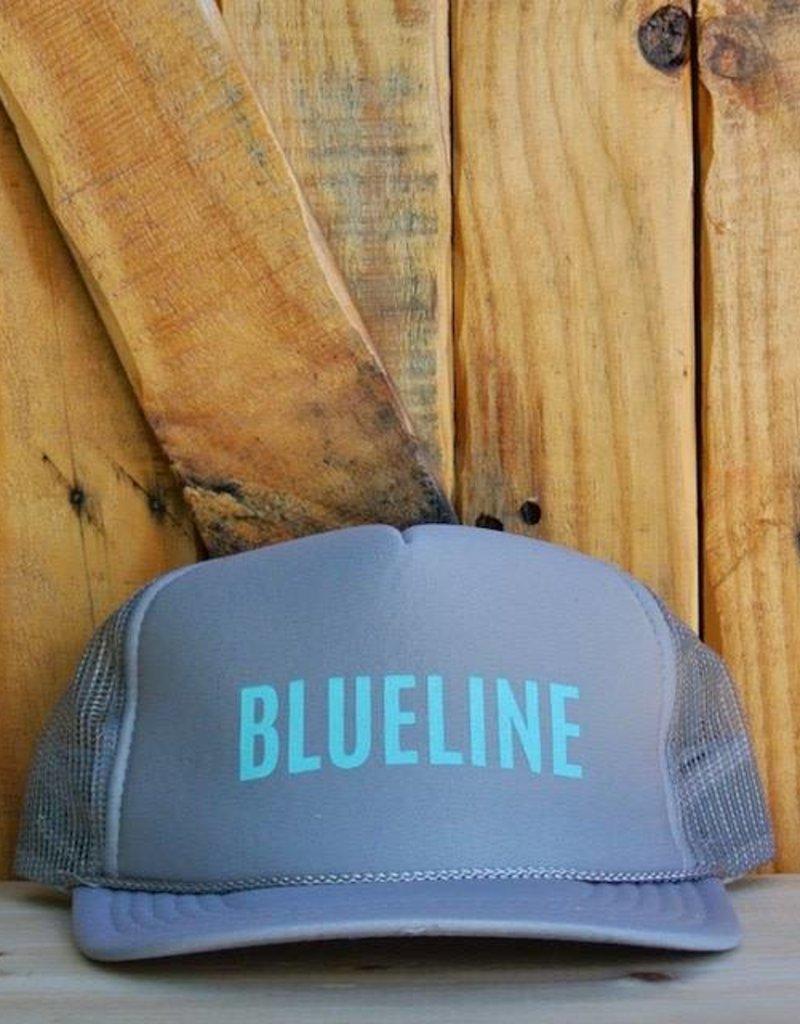 "Blueline Surf + Paddle Co. ""BLUELINE"" Trucker Light Gray\Jade"