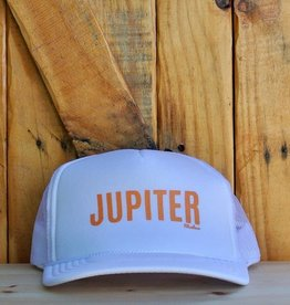 "Blueline Surf + Paddle Co. ""JUPITER"" Trucker White\Peach"