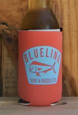 Blueline Surf + Paddle Co. BL Koozie Mahi Badge Coral\Blue