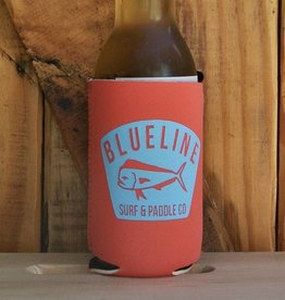 Blueline Surf + Paddle Co. BL Koozie Mahi Badge Coral\Blue