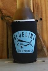 Blueline Surf + Paddle Co. BL Koozie Mahi Badge Black\Blue