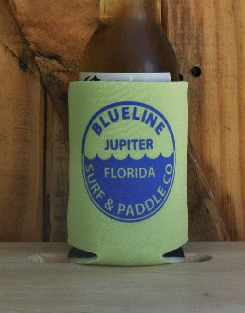 Blueline Surf + Paddle Co. BL Koozie Waterline Lime