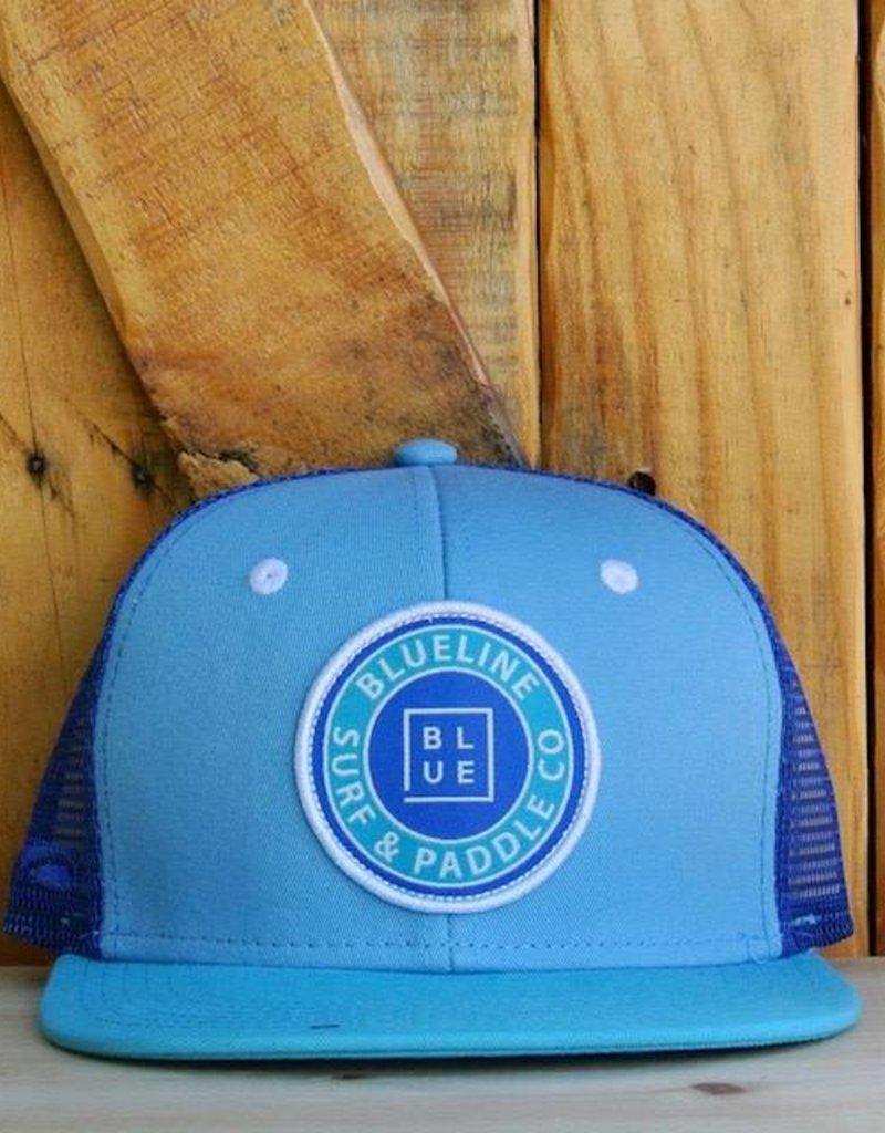 Blueline Surf + Paddle Co. YOUTH Original Flat Bill Carolina\Royal\Aqua\White