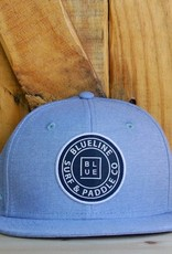 Blueline Surf + Paddle Co. YOUTH Original Flat Bill Hat Carolina Oxford
