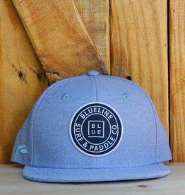 Blueline Surf + Paddle Co. YOUTH Original Flat Bill Hat Carolina Oxford
